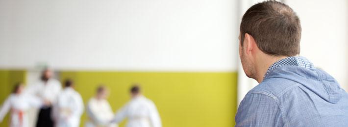 Artes Marciais: Pai acompanhando o treino