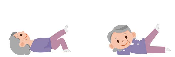 Idosa fazendo exercício
