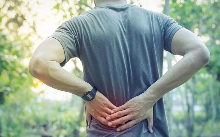 Mão dor da de exercício muscular