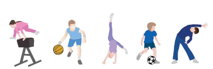Crianças fazendo Exercícios Físicos