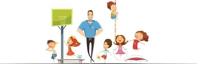 Aula de Educação Física Para Crianças