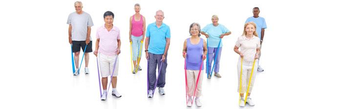 Idosos fazendo Exercício