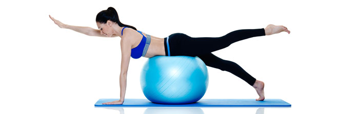 Pilates com Swiss Ball